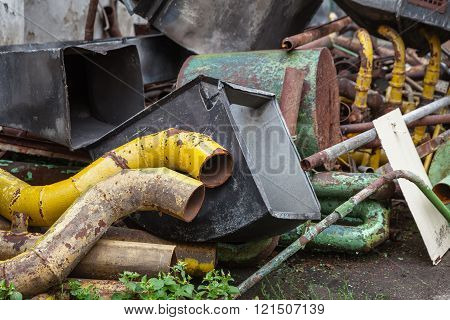 Old Rusty Scrap Metal