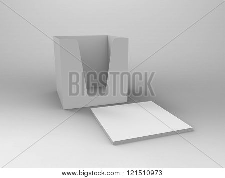 Notepad Holder & Notes 3D Render
