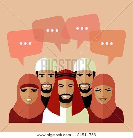 vector arabian people