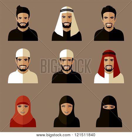 Smile Arabian Avatars