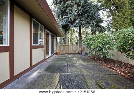 Older Small Rambler Home With Back Yard