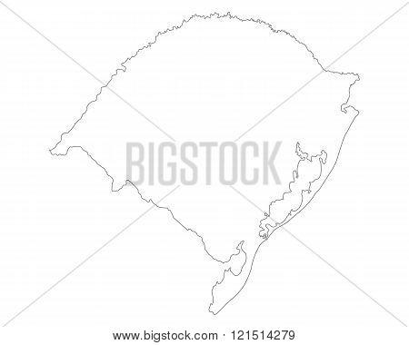 Map Of Rio Grande Do Sul