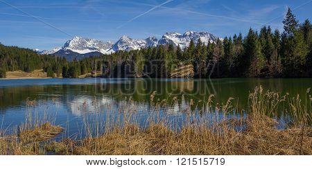 Pictorial Lake Geroldsee In Upper Bavaria