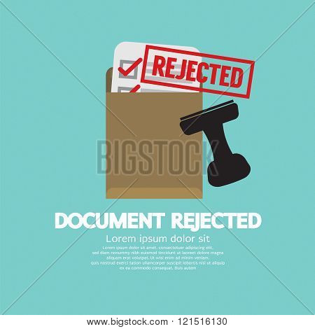 Document Rejected Stamp.