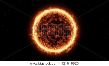 Sun Surface And Solar Flares