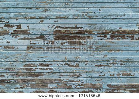 Old Blue Wood Siding