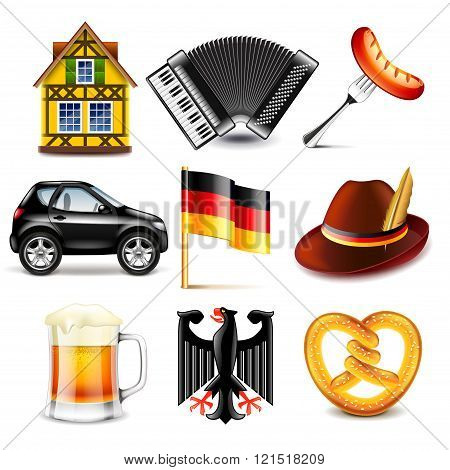 Germany Icons Vector Set