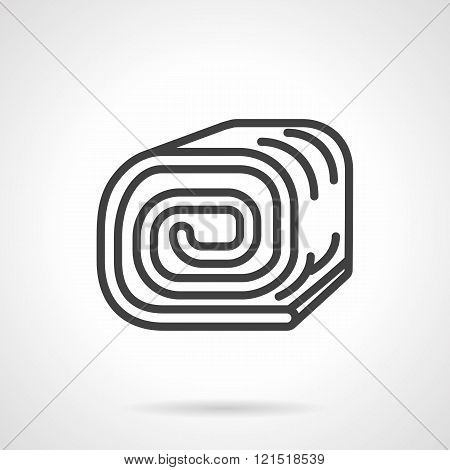 Sponge roll black line design vector icon
