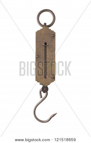 Vintage pocket balance on a white background