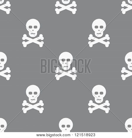 Seamless Scull Pattern Background