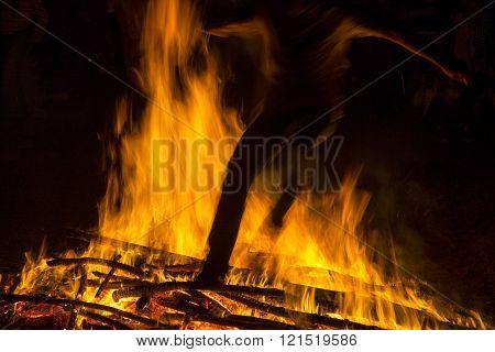 Bonfires of Saint John in Galicia, Spain