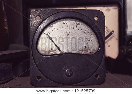 Old Big Voltmeter