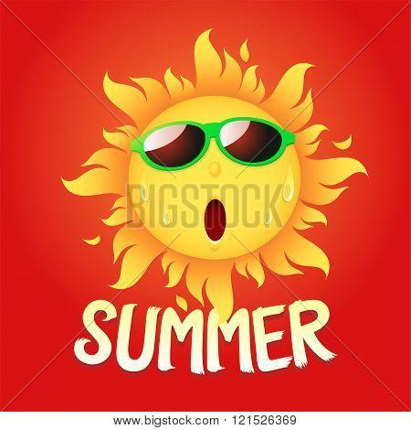 the sun hot