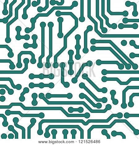 high tech vector background. Processor chip, technology and engineering illustration.