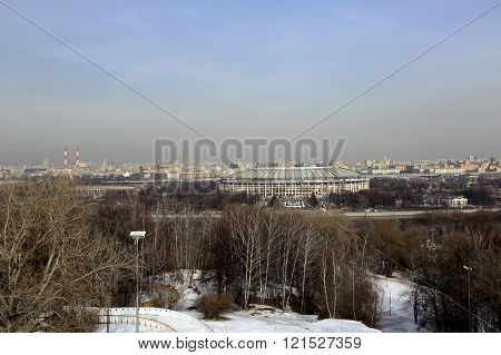 Panoramic view of the city of Moscow