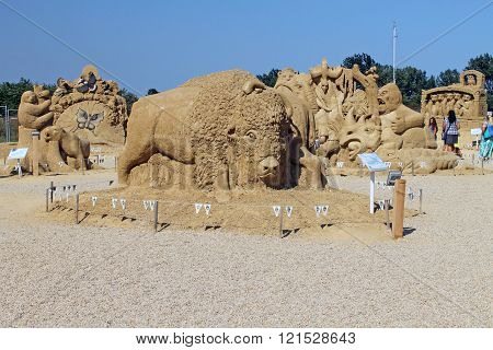 Figures Made Of Sand