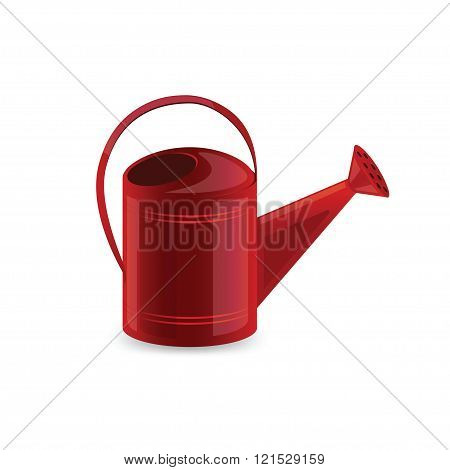 Garden watering can isolated on white background.