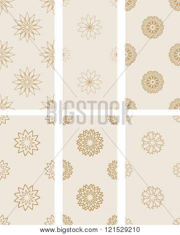 Floral Seamless Golden Patterns.