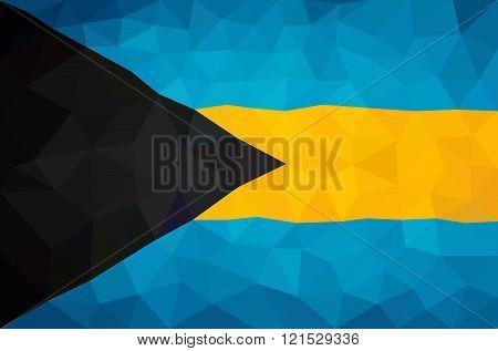 The Bahamas high poly triangulated flag