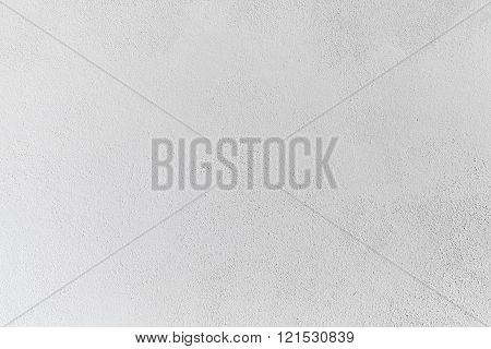 Concrete Wall With White Stucco Relief, Background