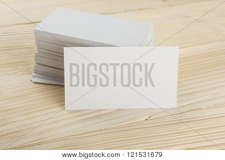 White blank business visit card, gift, ticket, pass, present clo