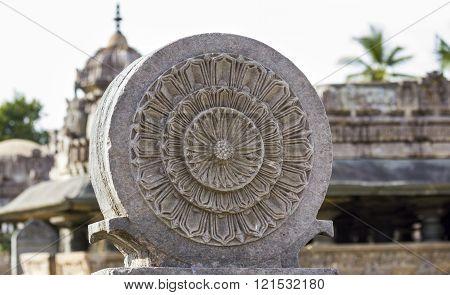 Stone carvings at Amrutapura Temple