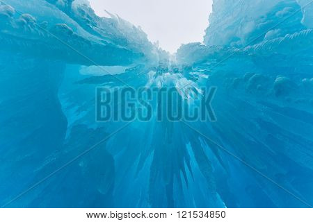Translucent Blue Ice Castle