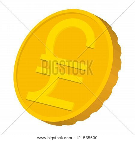 Gold coin with Italian Lira sign icon