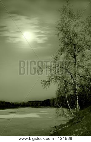 Siberian Winter River