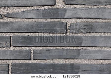 Close up of a brick wall in Paris