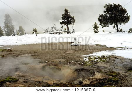 Geothermal Pool Yellowstone Wyoming