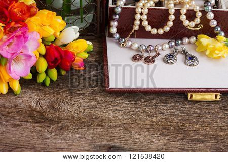 Jewellery in box