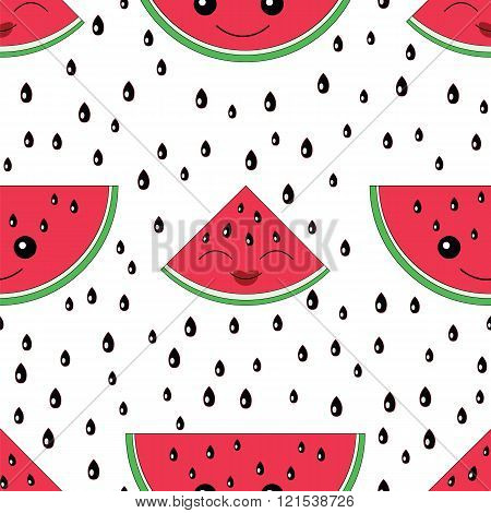 Watermelon Seamless Pattern.baby And Kids Style Abstract Geometric Background