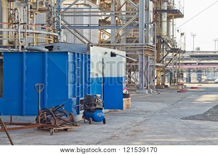 Open Area Of A Workshop Of A Petrochemical Plant