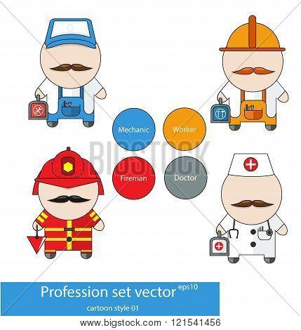 Profession Set Vector