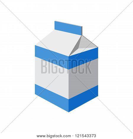 milk packet on white