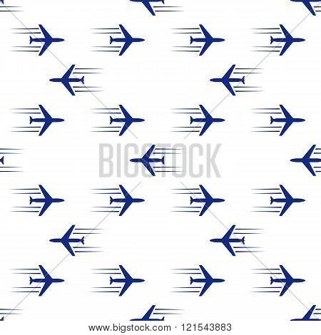 blue planes seamless