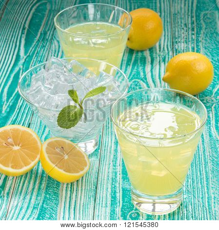 lemonade or limoncello in yoke stopper bottle