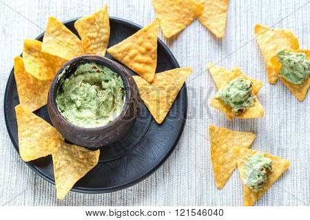 Bowl Of Guacamole Hummus
