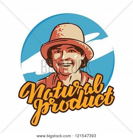 fresh food vector logo design template. farmer, grower, farm icon