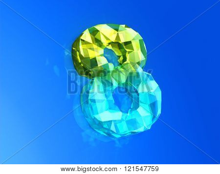 Yellow- Blue Eight As Precious Cristal