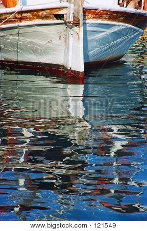 Boat With Reflection