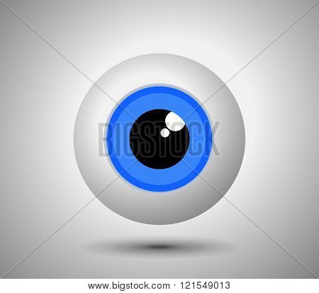 Blue Eyeball - Vector.