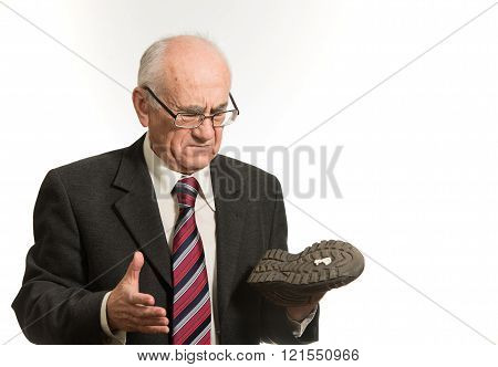 Man with Shoe