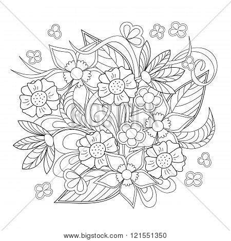 Image With Doodle Flowers