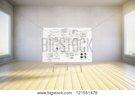 Business Concept Chart In Room