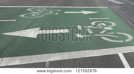 Bicycle path in Melbourne, Australia. Cycling in Melbourne, Victoria