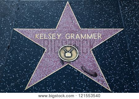 Kelsey Grammer Hollywood Star