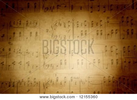 Musical score background