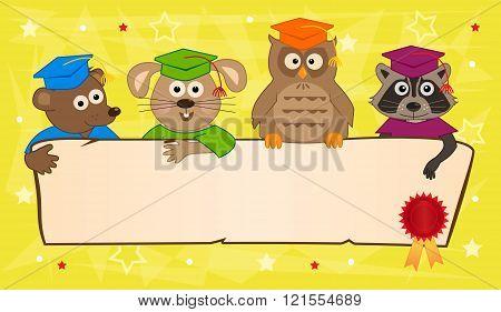 Animal Graduation Banner